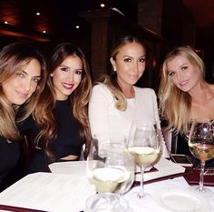 Ladies night: Joanna dined with TV personality Diana Madison and two other pals inside Cra...