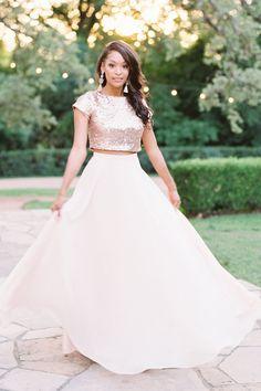 468542d80c Chiffon Bridesmaid Separate in Ballet Blush. Bandi Sequin Top. Bridesmaid  Skirts, Wedding Dresses