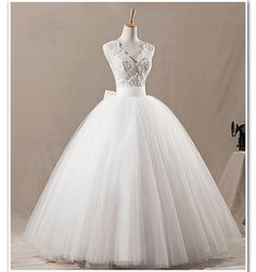 cheap wedding dresses Ball Gown Lace Bowknot by Charmbride on Etsy