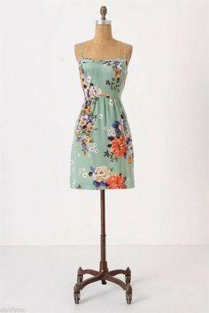 Anthropologie Verdant Slip Dress Sz 0 by Moulinette Soeurs | eBay