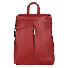 Dámský kožený batoh do města značky Estelle model 0143 barva červená 23456c8ebd