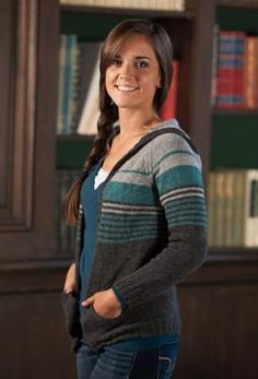 HOLLYWELL CARDIGAN by Megan Goodacre. I made mine in the round for a pullover instead of cardigan.