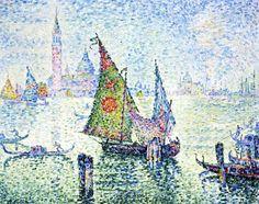The Athenaeum - The Green Sail, Venice (Paul Signac - )