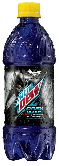 """For you Batman fans out there, here's a look at Mountain Dew Dark Berry, arriving with """"The Dark Knight Rises"""""""