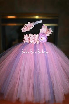 Halloween idea.. Pink Lavender Hydrangea Tutu Dress Audrey can be a flower and my my a bubble bee?