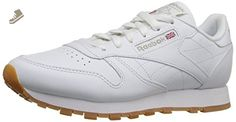 Reebok Women's CL Lthr Fashion Sneaker, Us-White/Gum, 7 M US - Reebok sneakers for women (*Amazon Partner-Link)