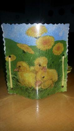 Serviettentechnik/Ostern (Easter)Windlicht
