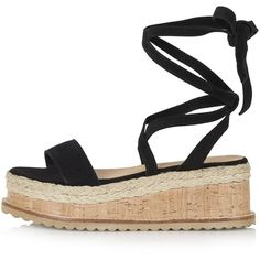 TopShop Wave Flatform Espadrille Wedge ($50) ❤ liked on Polyvore featuring shoes, sandals, black, espadrille wedge sandals, black wedge sandals, wedge espadrilles, leather wedge sandals and black leather espadrilles