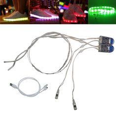 led lighting Strip 1Pair 0.6MX2 RGB SMD3528 Waterproof flexible fita de led luces USB