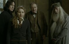 """Snape, Slughorn, and Gambondore show up to watch the unlikely love triangle between Lavender, Hermione, and Ron unfold. 