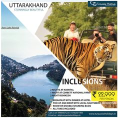 Turquoise Holidays offer unparalleled best business travel packages, holiday packages, domestic tour packages to our revered clients Jim Corbett National Park, India Holidays, Nainital, Holiday Packages, Rishikesh, At The Hotel, Business Travel, National Parks, Packaging