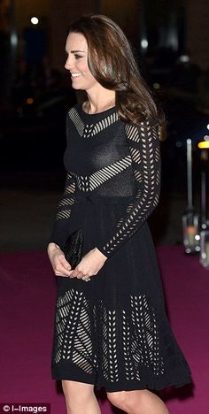 Kate attending a gala to benefit one of her charities, Action on Addiction. October 23, 2014