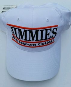 6d15fda9515 NWT Snap Back Jimmies Jamestown College Basketball White Cap Hat The Game   TheGame  JimmiesJamestownCollege