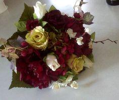 Winter Bridal Bouquet boutonniere set by BudgetWeddingBouquet