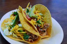 Crock Pot Chicken Tacos by From Valerie's Kitchen, via Flickr