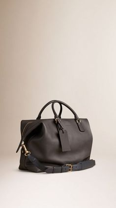 f8390f94eafa Charcoal Grainy Leather Holdall 1 Leather Bag