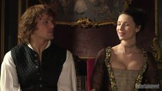 Here are some screencaps from EW video with Sam Heughan and Caitriona Balfe See more screencaps after the jump –