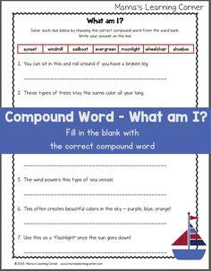 compound words worksheet free download teaching general pinterest worksheets free and. Black Bedroom Furniture Sets. Home Design Ideas