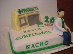 Tarta para el cumpleaños de un farmacéutico!