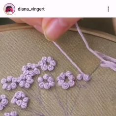 Amazing ideas about embroidery and stitching. Hand Embroidery Patterns Flowers, Basic Embroidery Stitches, Hand Embroidery Videos, Hand Embroidery Art, Embroidery Stitches Tutorial, Simple Embroidery, Learn Embroidery, Embroidery Techniques, Beaded Embroidery
