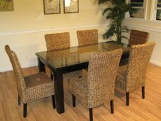 Cabo Seagrass Dining Set with Table and 6 Chairs Wicker Paradise,http://www.amazon.com/dp/B006YC6OV2/ref=cm_sw_r_pi_dp_h4mjtb10TFRR79AA
