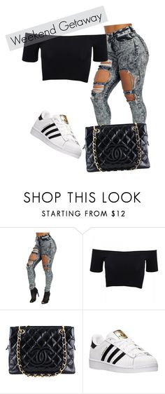 """""""weekend"""" by inssi on Polyvore featuring Mode, American Apparel, Chanel, adidas, women's clothing, women, female, woman, misses und juniors"""