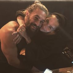Zoe Kravitz shares sweet photo with stepfather Jason Momoa Family! Zoe grinned next to Momoa while wearing a black beanie and black long-sleeved shirt for [. Zoe Kravitz, Zoe Isabella Kravitz, Jason Momoa Lisa Bonet, Interracial Family, Old Actress, Good Looking Men, Cute Guys, Role Models, Beautiful Men