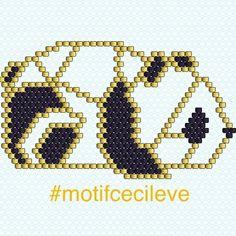 "71 Likes, 5 Comments - Cecile E (@cecile.v.e) on Instagram: ""Voilà le diagramme de mon panda ! #motifcecileve #miyukibeads #miyuki #miyukiaddict…"""
