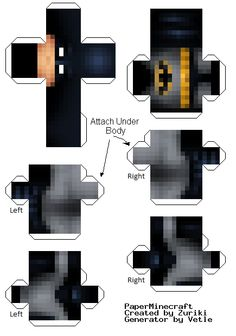 Minecraft Papercraft Skins | halucid link to skin http www minecraftskins info batman html sorry ...
