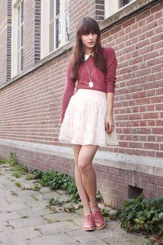 The World Looks Red: Schoolgirl style