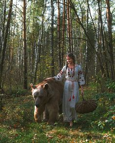 by Ольга Баранцева Marina and bear Stepan