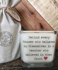 Dance Teacher Candle / Dance Candle / Dance Teacher Gift / Teacher Appreciation / Gifts For Teacher