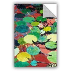 ArtAppealz Allan Friedlander Lazy Summer Afternoon Removable Wall Art, Size: 24 x 36, Red