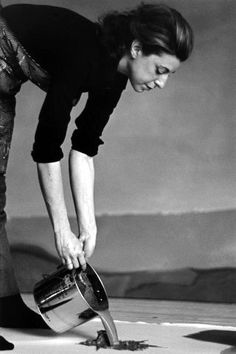 """Helen Frankenthaler. """"You have to know how to use the accident, how to recognise it, how to control it, and ways to eliminate it so that the whole surface looks felt and born all at once."""""""