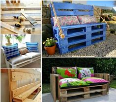 Pallet Sofa Bench DIY - inexpensive idea for the playroom!