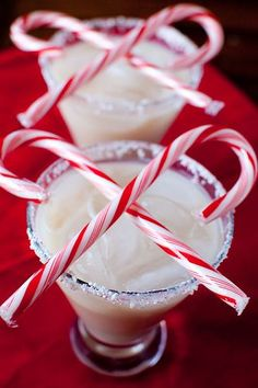Peppermint White Russians!  Drink for Christmas Eve