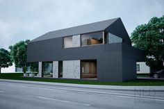 Návrh domu MAC - NED ATELIER Minimalist Architecture, Modern Architecture House, Architecture Plan, Modern Buildings, Small House Floor Plans, Modern House Plans, Modern House Design, Modern Tropical House, Farmhouse Architecture