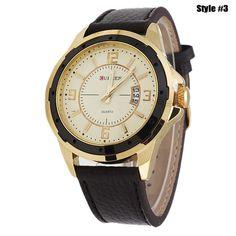18c07c0b60 Men Watches Top Brand Luxury Wristwatches Men Military Leather Sports Watch  Auto Date Športové Hodinky