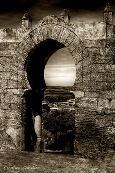 Gateway in the city walls of Medina Sidonia, Andalusia, Spain
