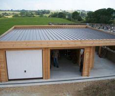 comment construire garage toit plat