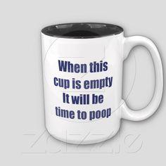 Hilarious Secret Santa or Gag Gift for Christmas - Funny Coffee Mug    http://www.zazzle.com/coffee_time_mug-168102129044635278