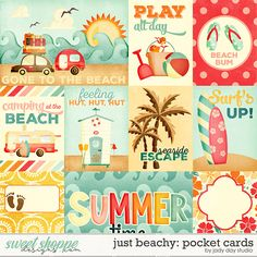 Just Beachy Pocket Cards by Jady Day Studio