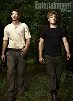 Liam Hensworth and Josh Hutcherson. To be the sexy men of the hunger games :)