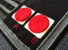 (4) Name: 'Crocheting : Game Controller Crochet Blanket Pattern
