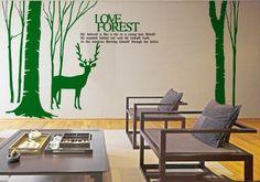 Deer Wall Decal -Deer Wall Vinyl-Deer Vinyl Sticker