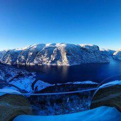 Aurland seen from Stegastein Viewpoint 📷 Mountain S, Half Dome, Mount Rainier, Winter, Nature, Travel, Instagram, Winter Time, Voyage