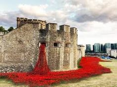 "Tower of London Poppies:  ""Blood Swept Lands & Seas of Red""... to commemerate those who made the untimate sacrifice in WWI  - Google Search"