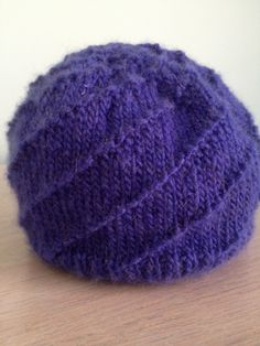 Hurricane Hat. I adore this simple pattern, easy to follow and knits up beautifully!