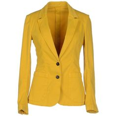 Tonello Blazer ($140) ❤ liked on Polyvore featuring outerwear, jackets, blazers, yellow, long sleeve blazer, yellow blazer, tonello, collar jacket and long sleeve jacket