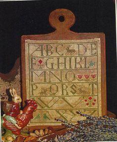 Primitive Folk Art Cross Stitch Pattern  SPRING by PrimFolkArtShop, $7.00